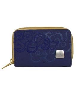Haiku Small Zip Wallet, Indigo, 3.25 x 4.875 x 1.75 -Inch