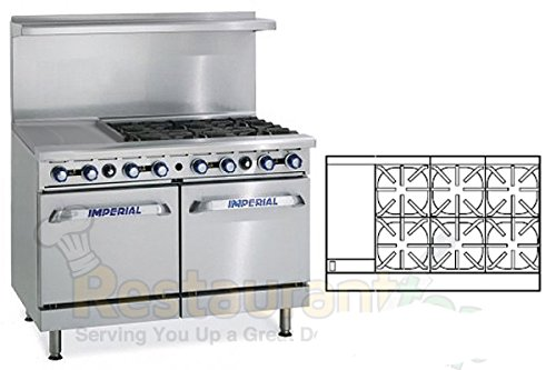 Imperial-Commercial-Restaurant-Range-48-With-6-Burners-12-Griddle-2-Standard-Ovens-Nat-Gas-Ir-6-G12