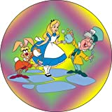 Alice in Wonderland With Mad Hatter & Hare Button B-DIS-0162
