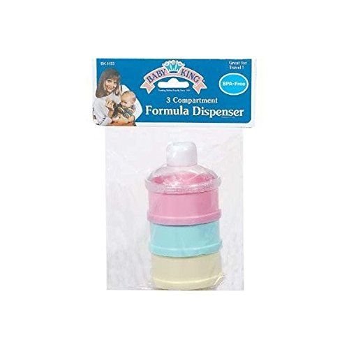 Baby King 3 Compartment Formula Dispenser (Each item is sold individually)