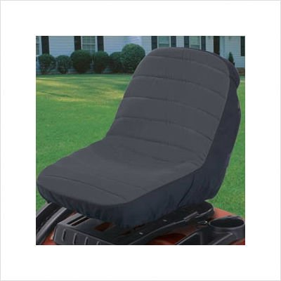 Classic Accessories 12324 Deluxe Tractor Seat Cover, Medium, Black