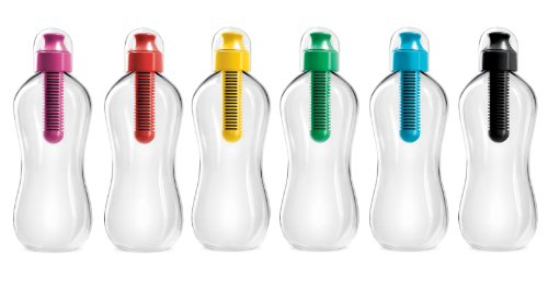 Bobble BPA Free Water Bottle Set 6 Assorted Colors (18 Oz)