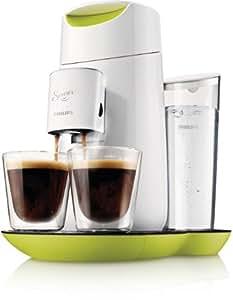 Philips Senseo HD7870/10 Twist Kaffeepadmaschine mit Touchdisplay, Lime Yellow