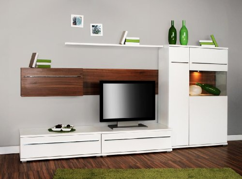 wohnzimmer 2 2 4 327 made in brd tv wand wohnwand anbauwand. Black Bedroom Furniture Sets. Home Design Ideas
