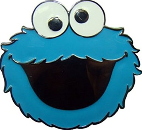 Sesame Street Cookie Monster Officially Licensed Cartoon Character Logo Belt Buckle.
