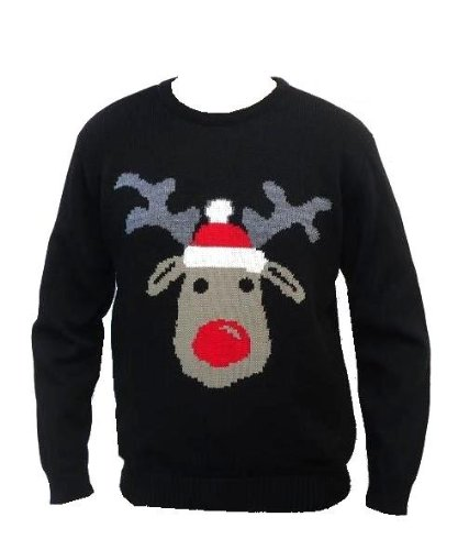 Christmas Novelty Retro Reindeer Jumper