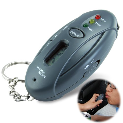 Alkoholtester Schlüsselanhänger Auto Gadget - Taschenlampe + Stoppuhr
