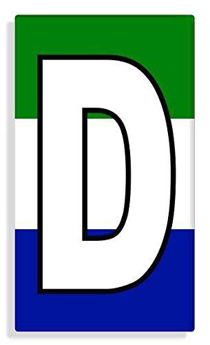 Sierra Leonean - Sierra Leone Flag Letter D Sticker Self Adhesive / Aufkleber Für Wheelie Bin / Haustür / Mülltonne / Mülleimer - Anzahl wählen