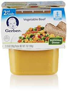 Gerber 2nd Foods, Vegetable and Beef (8 Count, 7 Oz Each)