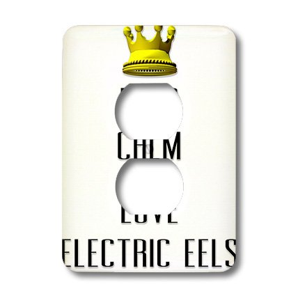 Lsp_121040_6 Blonde Designs Gold Crown For Keep Calm Love Animals - Gold Crown Keep Calm And Love Electric Eels - Light Switch Covers - 2 Plug Outlet Cover