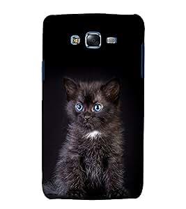 printtech Cute Cat Kitten Back Case Cover for Samsung Galaxy J5 / Samsung Galaxy J5 J500F