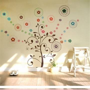Lucky-Tree-Wall-Stickers-Art-Decor-Removable-Vinyl-Wall-Background-Home-Decor