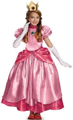 Costume da Principessa Peach prestige per bambina 7 a 8 anni