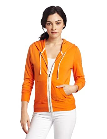 Claeson Women's Color Splash Hoodie Sweatshirt, Orange, X-Small