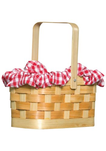 Rasta Imposta Gingham Basket, Red, One Size