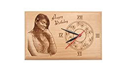 Samruddhi CREATIONS - Unique engraved wooden frame with clock (9 X 6) inches)