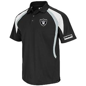 Oakland Raiders Black Field Classic VI Synthetic Polo by VF