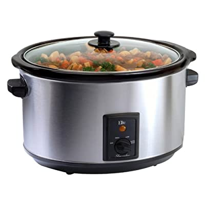 Maxi-Matic MST-800V Elite Gourmet Large 8-1/2-Quart Slow Cooker, Stainless from Maximatic