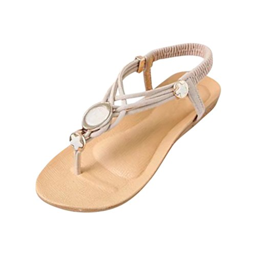 Hee Grand Women Fashion Beads Beach Thong Sandals