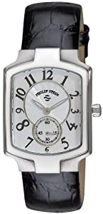 Philip Stein Women's 21-FMOP-ABS Classic Black Alligator Leather Strap Watch