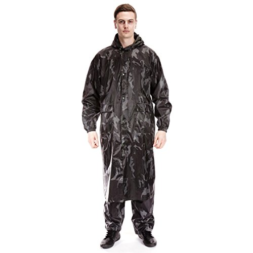 Universaltextilien Herren Regenmantel / Regenjacke, wasserdicht, lange Länge (L) (Camouflage)