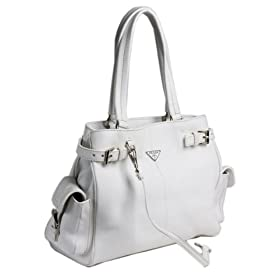 Prada BR2958 - Leather Tote White Prada Handbag