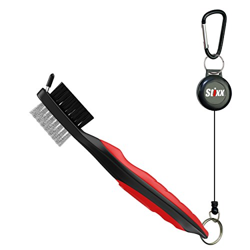 STIXX 33452 #1 Heavy Duty Golf Club Cleaning Brush & Spike Groove Cleaner