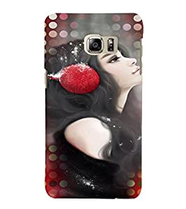 Fuson Music Lover Girl Back Case Cover for SAMSUNG GALAXY NOTE 5 EDGE - D3980