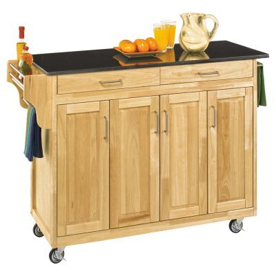 Cheap Home Styles 9200-1014 Create-a-Cart 9200 Series Cabinet Kitchen Cart with Black Granite Top, Natural Finish (9200-1014)