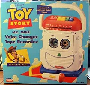 pixar 39 s toy story mr mike voice changer mic tape recorder and player toys games. Black Bedroom Furniture Sets. Home Design Ideas