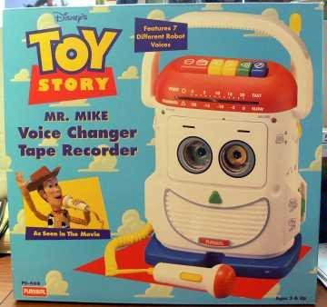 Pixar'S Toy Story Mr. Mike ~ Voice Changer Mic ~ Tape Recorder And Player