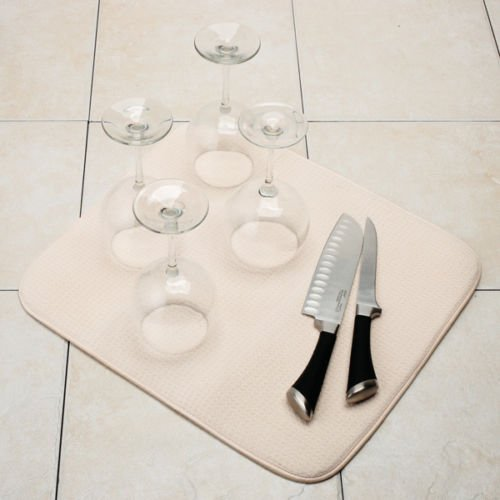 Norpro Dish Plate Glass Drying Mat - Cream - 16 X 18 Inches - NEW