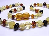 The Art of Cure Baltic Amber Teething Necklace for Baby (multi) - Anti-inflammatory ...
