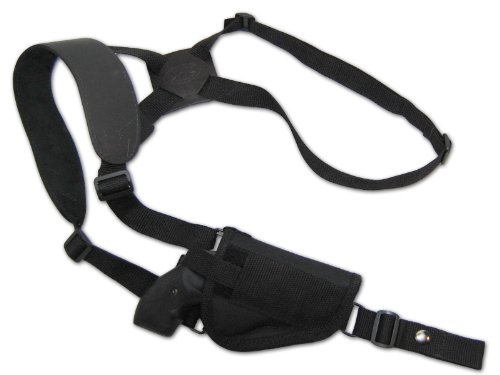 Barsony Cross Harness Vertical Shoulder Holster for 2 inch Snub-Nose .22 .38 .357 Revolver from Barsony Holsters and Belts