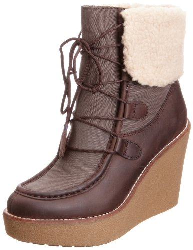 Tommy Hilfiger Women's Winnie 4 Coffee Bean/Military Wedges Boots FW56814842 6 UK, 39 EU
