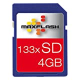 Maxflash Secure Digital (SD) Memory Card 4 GB (Original Retail Packaging)