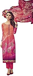 Lebaas Designer Long Cotton Straight Cut Style Suit (Unstitched Dress Material) - (With Discount and Sale Offer)