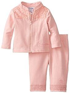 Calvin Klein Baby-Girls Newborn Jacket Set, Pink, 6-9 Months