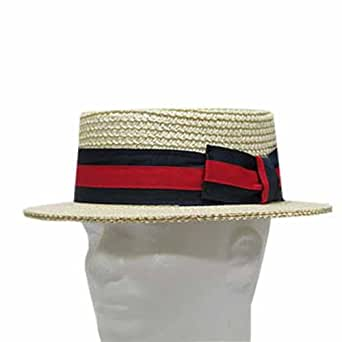 CLASSIC BOATER Bleach SKIMMER Straw Hat Men's 6-7/8