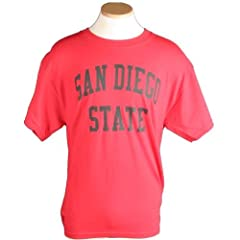 San Diego State Aztecs T-shirt - Red With Black Print by SportShack INC