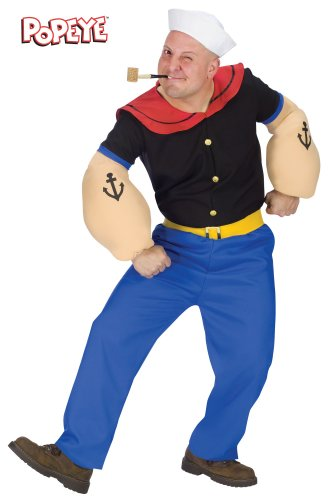 [Adult Popeye Costume] (Popeye Plus Size Adult Mens Costumes)
