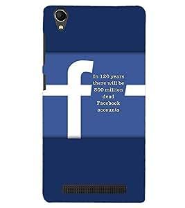 PRINTVISA Quotes Facebook Case Cover for Intex Aqua Power Plus
