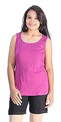 Romano Women's Purple Sports T-Shirt & Shorts Set