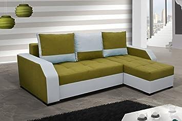 Divano ad angolo Aris con Funzione letto divano ad angolo Funzione sleep Divano Divano 01495