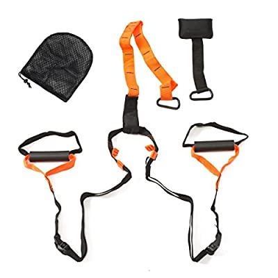 Profi Suspension Schlingen Trainer orange/schwarz inkl. Tueranker, Transportbeutel und Trainingsanleitung