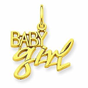 14k Baby Girl Charm
