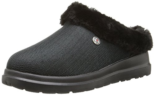 BOBS from Skechers Women's Cherish Slipper, Black/Black, 5 M US