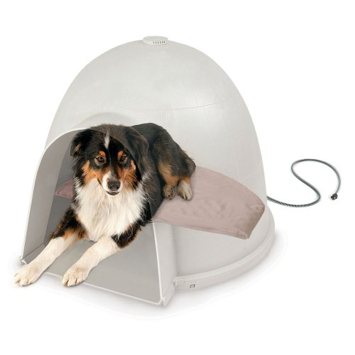 K&H Lectro-Soft Igloo Style Dog Bed, Medium, 14.5-Inch By 24-Inch, 40-Watts