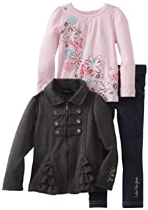 Calvin Klein Girls 2-6X Toddler Jacket With Pink Tee And Jean from Calvin Klein