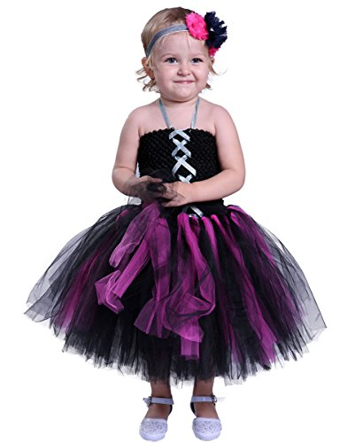 [Tutu Dreams Halloween Costumes for Girls (4, Witch)] (Classic Black Witch Costumes)